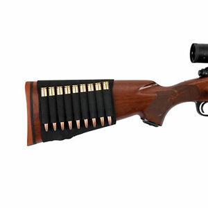 New Hunting 9 Elastic Loops Buttstock Hunting Rifle Cartridge Holder Heavy Duty