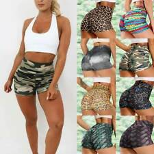 Womens High Waist Yoga Shorts Sports Hot Pants Briefs Casual Fitness Gym Workout