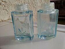 """Fostoria BLUE BAROQUE 2 3/4"""" Tall Salt & Pepper Set / Pair"""