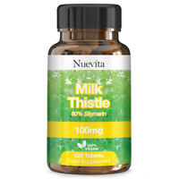 Milk Thistle Tablets 2000mg - 80% Silymarin Supplement - 120 Vegan Tablets