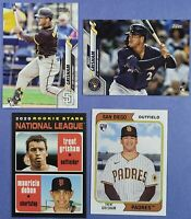2020 Topps TRENT GRISHAM RC lot of 4 Topps, Update, Heritage & Archives Padres