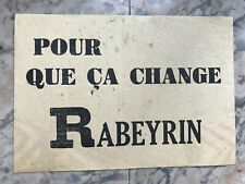 Tract Pour que ca change Rabeyrin