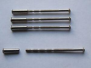 4 x M3 Door handle fixing, bolts, screws with sleeve, suit hollow door.
