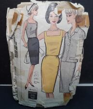 1964 McCall's Square Neck Crop Top, Skirt & Jacket Size 16