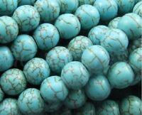 4/6/8/10mm Türkis Perlen Spacer Beads Zum Basteln Perlenkette Schmuckherstellung