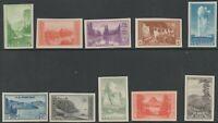 Scot 756-65 - 1935 Commemoratives - National Parks Issue 10 Stamp Set