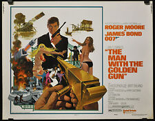 THE MAN WITH THE GOLDEN GUN 1974 ORIG 22X28 MOVIE POSTER BOND 007 ROGER MOORE