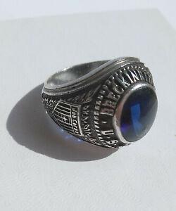 Men's Breckinridge Job Corps Sterling Silver Kinney Ring Size 9.25