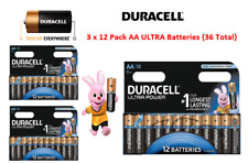 Duracell ULTRA 3 x AA 12pk Batteries,No1 lasting battery for all devices.