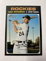 2020 Topps Heritage Baseball Ryan McMahon Colorado Rockies Card #298