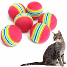 2Pcs Pet Small Dog Puppy Cat Colorful Soft Play Chew Treat Ball Activity Toys