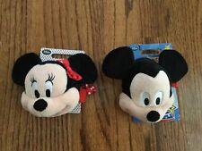 New listing Nwt Disney Store Plush Minnie Mickey Mouse Coin Bag Wrist 2pc Set