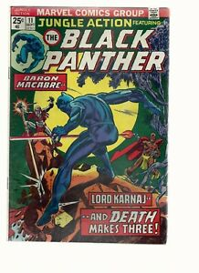 Marvel comic Jungle Action #11 featuring Black Panther