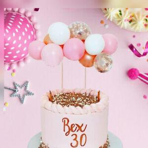 CONFETTI Balloon Cake Topper Arch GARLAND Birthday Wedding Decoration Gold PINK