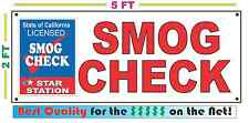 SMOG CHECK Banner Sign 2X5 Full Color