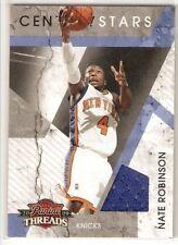 NATE ROBINSON JERSEY 2009 PANINI THREADS CENTURY STARS 22 SERIAL #/250 NY KNICKS