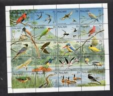 MALAWI MNH 1992 SG876-895 BIRDS SHEET OF 20