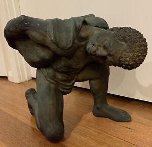 Vintage Rare Blackamoor Sculpture Figure Garden Ordament African Aboriginal