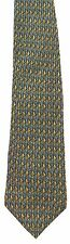 Men's New silk Neck Tie, Dark Blue and brown small triangle pattern by Jimmy