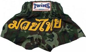 """Twins Special """"CAMOUFLAGE"""" Muay Thai Kickboxing Shorts - TBS-34"""