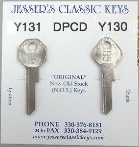 DPCD Y131 Y130 DeSoto New Old Stock Keys 1949 1950 1951 1952 1953 1954 1955