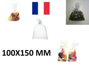 100X Sachet Poche Plastique Alimentaire PEBD 100x150mm 10x15cm Sac 50u