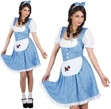 Ladies Country Girl Fancy Dress Costume Womens Rainbow Oz Dorothy Outfit W 2xl