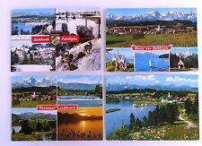 4 x Lechbruck Algovia TIROLESE Alpi CARTOLINE andate AFFRANCATA CON FRANCOBOLLI