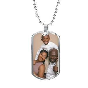 Personalized Photo DOG TAG  - Hypoallergenic Surgical Steel -18K GOLD PLATED