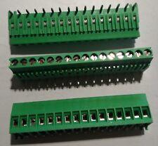 3 Morsetti da circuiti stampato a 16 poli passo 3.5mm