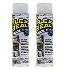 FLEXSEAL CLEAR Flex Seal® Clear Liquid Rubber Sealant Coating - LOT OF 2 CANS
