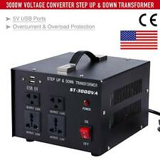 3000W Voltage Converter 220V to 110V and 110V to 220V Step Up Step Down 5V USB