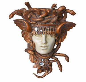 Wall Sculpture Medusa Snake Hängekonsole Antique Bracket Head Women's