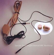 Neckloop Loopset Earpiece Spy Covert Hidden Mini Micro Exam Bluetooth