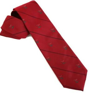 LACC Los Angeles Country Club Red Silk Tie by Robert Talbot Golf