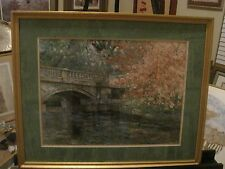 Bianco Bridge and Trees Scene print with Certificate Of Authenticity