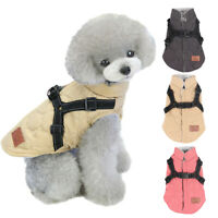Pet Harness Coat Winter Dog Clothes Reflective Harness Vest for Dog Puppy Jacket