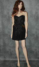 Atmosphere Strapless Black Evening Dress Size 10 Ladies Party Sexy Wiggle Frock
