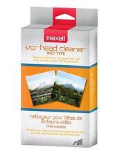 NEW! Maxell 290038 VP-200 VHS Head Cleaner Wet Type Premium