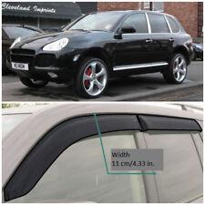 VE21903 Window Visors Guard Vent Wide Deflectors For Porsche Cayenne 2002-2010