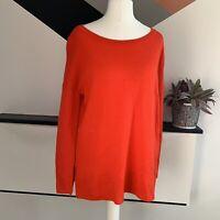 HOBBS Red Merino Wool Jumper Size S    Smart Casual Warm