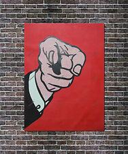 Roy Lichtenstein Oil Painting Finger Pointing HandPainted Canvas NOT Print 24x36