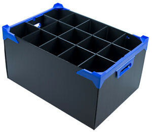 Stackable Wine Glass Storage Box - With 15 Sections - Cell Size H300xD95mm