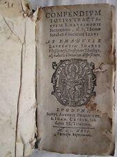 SANCHEZ : COMPENDIUM TOTIUS TRACTATUS DE S. MATRIMONII SACRAMENTO, 1626.