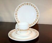 12 Piece Set Corelle Butterfly Gold Dinnerware Dishes Plates Cups Saucer