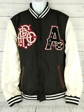 1f0ffb9fc Akoo Varsity Football Jacket Mens Large Hip Hop Patch Urbanwear Sudden Death