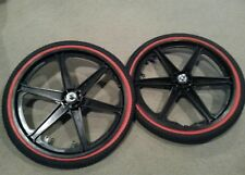 "NEW 20"" MAG WHEELS 6 SPOKE NEWTIRES TUBES FOR GT DYNO HARO OR BMX BICYCLES"