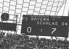 Pressefoto: Bayern München - Schalke 04 - 0:7 Olympiastadion München 1976