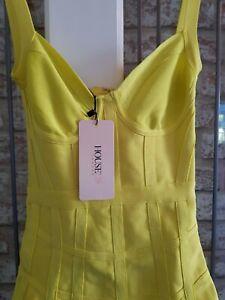 House Of CB London Womens Size XS (6 - 8) Jianna Lemon Dress wow!!