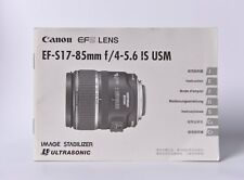 Canon Lens EF-S 17-85mm f/4-5.6 IS USM Bedienungsanleitung